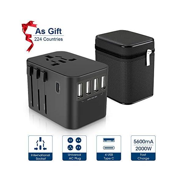 Adaptateur-de-Voyage-ZeaLife-Prise-Voyage-Universel-4-Ports-USB-Prise-de-Type-C-et-AC-Adaptateur-Chargeur-pour-EuroUAUKAUS-Plus-de-244-Pays-avec-Un-tui-Le-Protge-de-La-Poussire