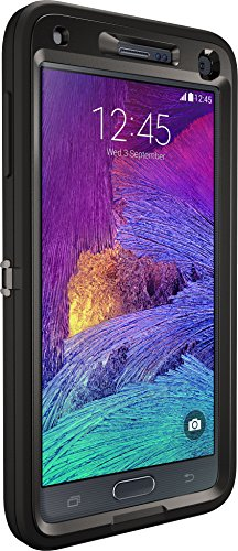 OtterBox Defender Case for Samsung GALAXY Note 4 - Retail Packaging - Black (Black/Black)