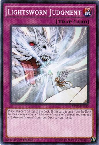 yu-gi-oh Lightsworn Judgment - RATE-EN095 - Common - 1st Edition - Raging Tempest