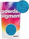 Hemway - Pigmento en polvo lujoso, de color metálico y muy brillante, para resina epoxi, pintura de poliuretano 50 g Azul marino metálico