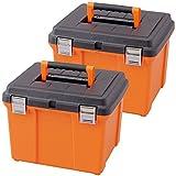 アイリスオーヤマ 職人の車載ラック 専用 ハードプロ 2個セット 45 オレンジ/ブラック