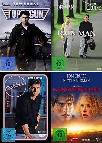 Tom Cruise 4-Filme Collection: Top Gun + In einem fernen Land + Rain Man + Cocktail (Kein Box-Set)