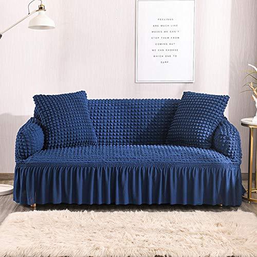 Fsogasilttlv Funda Sofa Ajustables 2 plazas y 4 plazas, Funda de sofá elástica de Color sólido para Sala de Estar, Fundas seccionales elásticas para sofá Funda de sofá en Forma de L 2 PCS