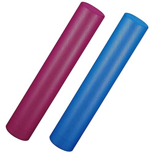 Sport-Thieme Pilatesrolle, Pilatesroller Premium | Yogaroller aus extra weichem Spezial-Schaumstoff | 16 x 90 cm | rutschfest, Antibakteriell, Abwaschbar | 600g | Blau o. Burgund