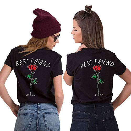Daisy for U Best Friends Sister Tshirt BFF 1 Stücke-Schwarz-S