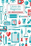 Libro de Registro de Medicinas: Cuaderno de recordatorio diario personalizado | Para ancianos, adultos y niños | Diario de recetas para registrar | ... pastillas tomadas | Diario de tamaño pequeño