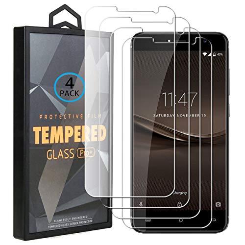 Ycloud 4 Pack Verre Trempé pour Cubot Note Plus, HD Transparent Screen Protector [Anti-Rayures] [Dureté 9H] [Facile à Installer] Vitre Tempered Glass Screen Protector