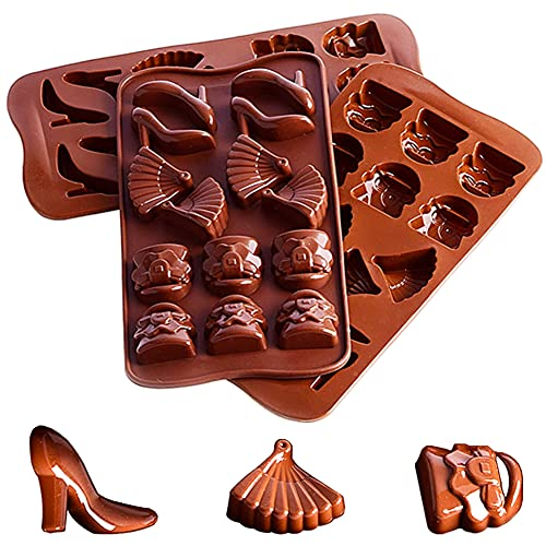 QXSS silikon choklad formar silikon bakformar för verktyg för godis- och chokladtillverkning bakning godis och choklad 6-pack