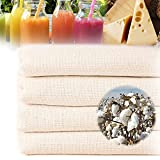 4 paños de filtro, 100 % algodón, paño multifunción, paño de filtro, trapo para hacer nueces, sopa de leche, zumo, yogur, queso (50 x 50 cm)