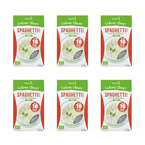 6 x Slendier Tagliatelle konjac biologiche, stile Spaghetti, ipocaloriche, shirataki, fonte di...
