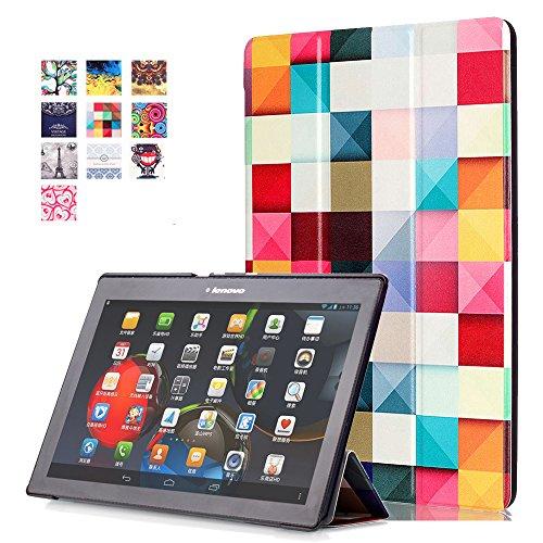 Lenovo Tab 10 TB-X103F Funda, Carcasa Protectora con Auto Sueño / Estela Función para Lenovo Tab 2 A10-70F / Tab 2 A10-30 / Tab 2 X30F / Tab 3 10 Plus/ Tab 3 10 Business 10.1' Tableta