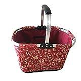 Portable Outdoor Foldable Waterproof Picnic Basket Supermarket Shopping Basket (Color : A)