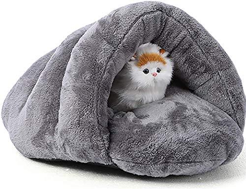 Cama de Mascotas Triángulo Pet Nest Pet Pet Dog Cat Cava Cama Cesta CASAGLITE Soft Soft COZ COJUDIO PERIFICIAL, ANTRILLA, Soft Y COMODIVO/Derecho, Lavable a la máquina, Gris, M