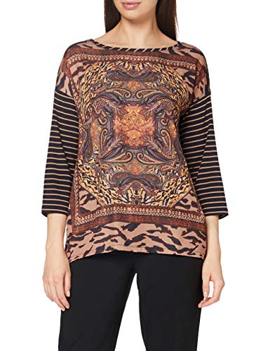 Betty Barclay Collection Sophie T-Shirt, Dark Blue/Camel, 38 Donna