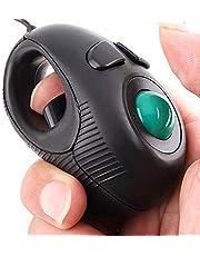 Eigiis taşınabilir Trackball ergonomik optik Maus parmak Hand Held 4D sol ve sağ elini kullananlar için USB fare