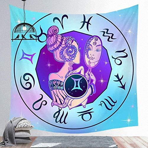 Tapiz Pared Mandala Hippie Constellations, Trippy Tapestry Hippie Art Tapices Para Colgar En La Pared, Tapices Tela Poliéster Para Dormitorio Decoración Del Hogar -51 'X59'