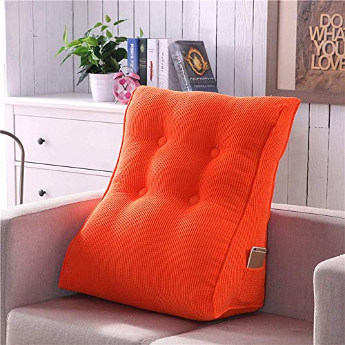 KEDUODUO Backrest Pillow, Triangle Pillow, Backrest Support, Corner Pillow Cushion, Adjustable Reading Pillow, Sofa Bed, Office Chair,Orange