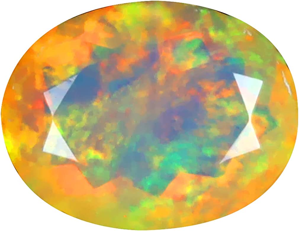 1.91 ct OVAL 11 X 8 mm Don't miss the campaign Japan Maker New RAINBOW ETHIOPIAN DEGREE O FLASHING 360