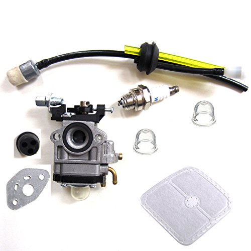 HQparts Carburetor with Repower Kit Air Filter for Echo SRM270 SRM270U PAS2601 PE2601 SRM2601 SRM2610 Trimmer Weed Eater Replace WYJ-192 WYJ-192 WYJ-192A 12300057730 12300057731