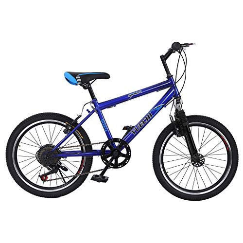 Fainosmny Teens Hardtail Mountain Bike for Boys, Stone Mountain 20 inch 7-Speed Bicycle Blue