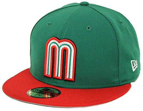 New Era 59Fifty WBC Mexico Green Red Fitted Cap (7 1/4)