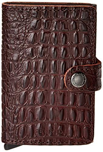 Secrid Secrid Nile Miniwallet Börse mit RFID Schutz 6.5 cm Brown