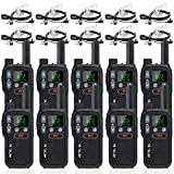 Retevis RB18 Walkie Talkies with Earpieces, Rechargeable Two Way Radios,2 Way Radio for Adults, NOAA Dual PTT Flashlight VOX,for Business Retail Hotel School(10 Pack)