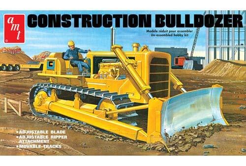 Round2 AMT1086/06 1/25 Construction Bulldozer Plastikmodellbausatz, Modelleisenbahnzubehör, Hobby, Modellbau, Mehrfarbig