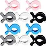 10 Pieces Stroller Cover Stroller Clips Stroller Blanket Clips Stroller Pegs Clips Muslin Blanket Plastic Clip Car Seat Cover Clips Stroller Pegs Clips for Hanging Blanket Toys Diaper Bags, 5 Colors