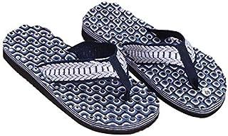 Summer Soft Casual Men Flat Wedge Sandals Thong Flip Flops Slippers Beach (Color : Blue, Shoe Size : 39)