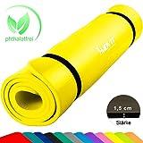 Movit XXL Pilates Gymnastikmatte, Yogamatte, phthalatfrei, SGS geprüft, 190 x 100 x 1,5cm, Gelb