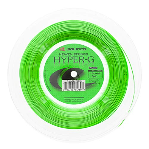 Solinco Hyper-G 200M groen Tennis snaarrol 200m monofil groen