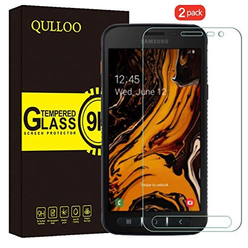 QULLOO Panzerglas für Samsung Galaxy Xcover 4S / 4, Panzerglas Schutzfolie 9H Hartglas HD Bildschirmschutzfolie Anti-Kratzen Panzerglasfolie Handy Glas Folie für Galaxy Xcover 4S / 4