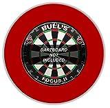 BULL'S Pro Dartboard Surround / Catchring / Auffangring / Wandschutz, rot -