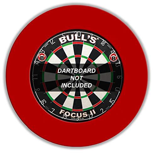 Bulls 68403 Anello Protettivo per tabellone Freccette, Colore: Rosso