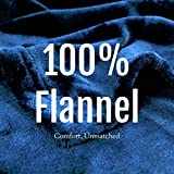Flannel Fleece Blanket Throw, Bed Blanket for Winter | Plush Microfiber Lightweight Travel Blanket Cozy Softest Warm Thick | Thermal Fuzzy Blanket for Teen Girls | Best Gift for Moms Navy Blue 50x60'