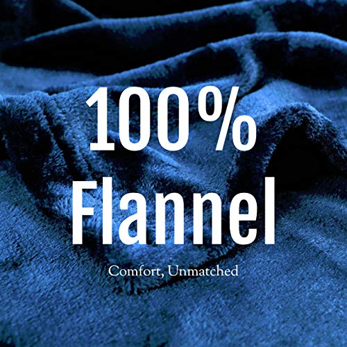 Flannel Fleece Blanket Throw, Bed Blanket for Winter | Plush Microfiber Lightweight Travel Blanket Cozy Softest Warm Thick | Thermal Fuzzy Blanket for Teen Girls | Best Gift for Moms Navy Blue 50x60""