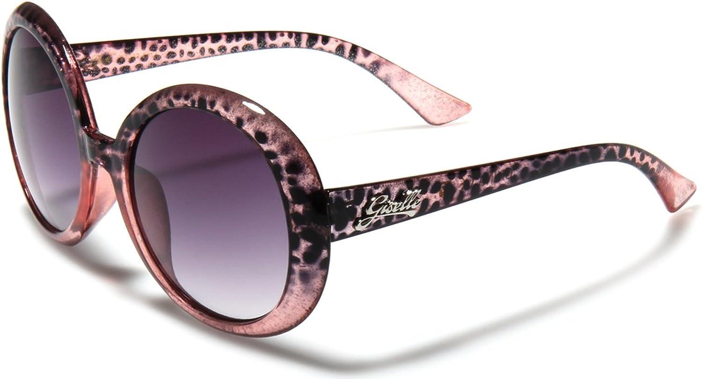 Giselle Women's Round Animal Print Retro Sunglasses