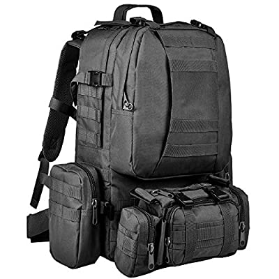 CVLIFE Military Tactical Backpack Army Assault Pack Built-up Molle Bag Rucksack
