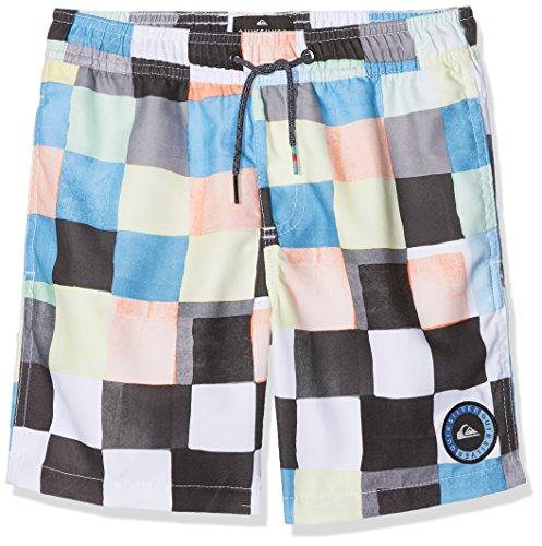 Quiksilver Jungen Rescheckvlyth15 B Jamv Wbb6 Badeshorts, Bright White/Pattern, L/14