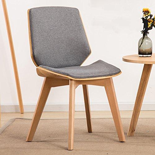 XIAOLVSHANGHANG HHCS Chaise de Chambre à Coucher Moderne Simple Balcon Casual Chaise en Bois créative Chaises et tabourets (Couleur : #4)