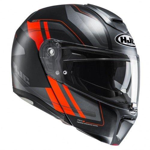 HJC Motorradhelm RPHA 90 Tanisk MC6HSF, Schwarz/Rot, Größe XL
