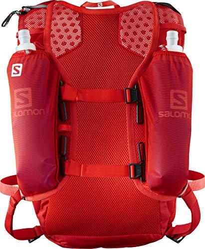 Salomon Agile Set Mochila Ligera para Carrera de montaña y Senderismo, Práctica y cómoda, Capacidad 12l, Unisex Adulto, Roja (Fiery Red), Talla única
