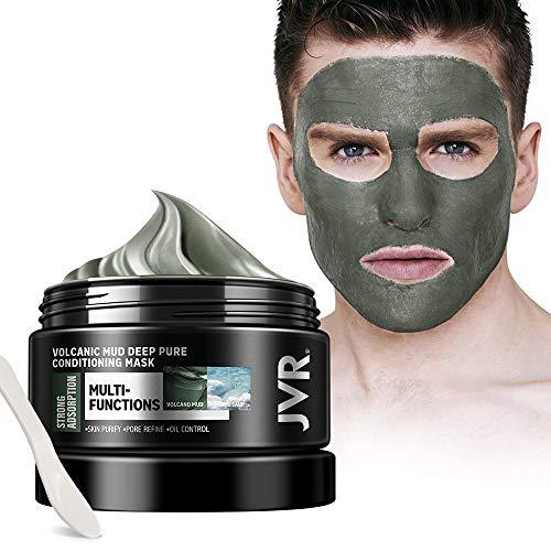 Gesichtsmaske, JVR Vulkanschlamm Deep Cleansing Maske, Schlammmaske gegen Unreine Haut, Akne, Fettige Haut & Mitesser 140ml