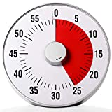 Quickloong Large Magnet Visual Countdown Clock Analog Timer, Quiet Counting, Volume Option,