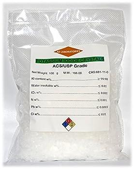 Potassium Iodide USP Grade 100 grams Fine Crystals Powder USP