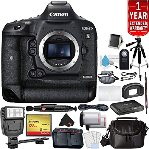 Read About Canon EOS-1D X Mark II DSLR Camera (Body Only) Bundle 128GB Compact Flash Memory Card + C...