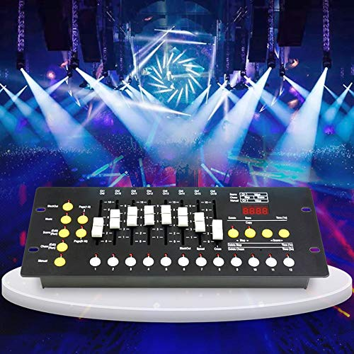 Skyeep Atenuación DMX512 Controller DMX 192 Canales Controlador de Iluminación de Escenario Controlador de Módulo de Decodificador para los Dispositivos de Iluminación 2048 KB Destello