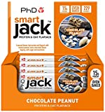 PhD Smart Jack, High Protein, low sugar baked Oat Flapjack-(Chocolate Peanut),Pack of 12