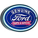 """American Art Decor Officially Licensed Genuine Ford Parts & Service LED Neon Sign Wall Decor for Man Cave, Bar, Garage, Game Room – USB Powered (10.25"""" x 16.25"""")"""